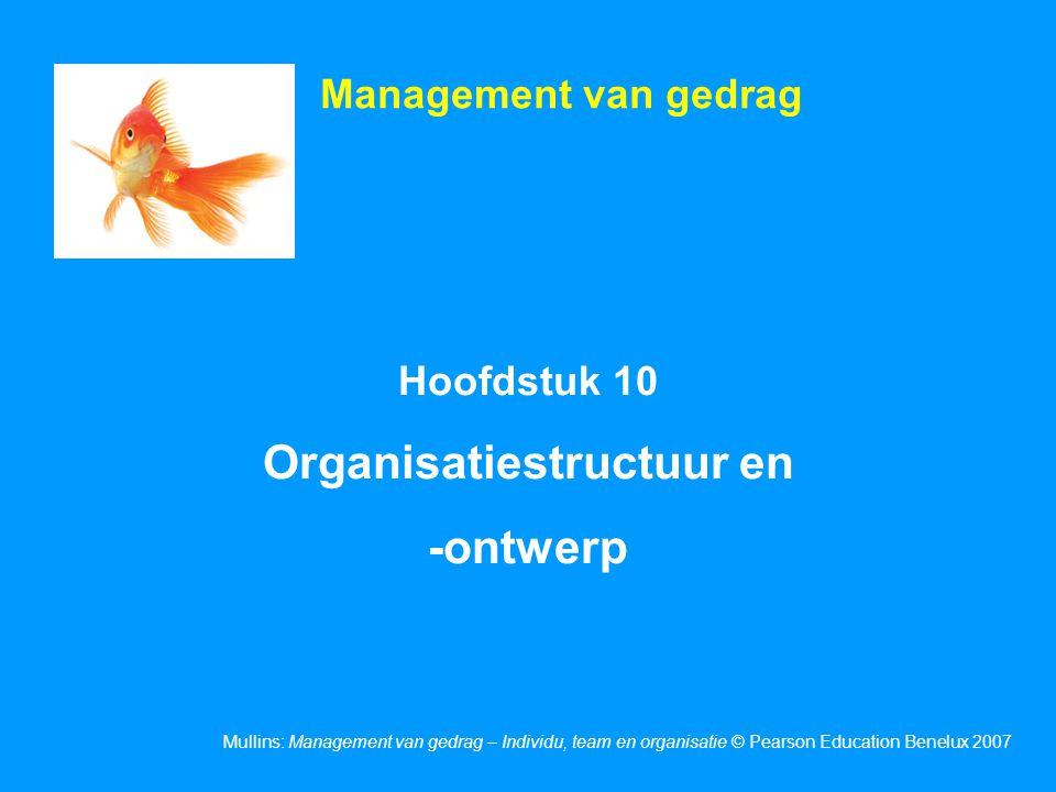 Organisatiestructuur en