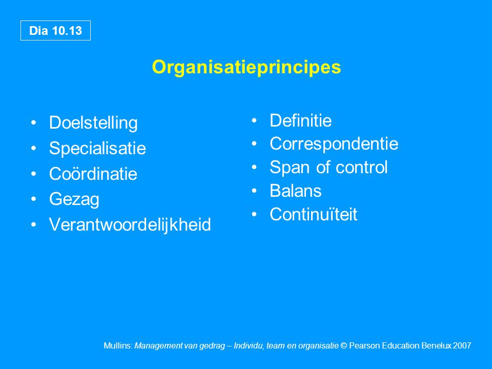 Organisatieprincipes