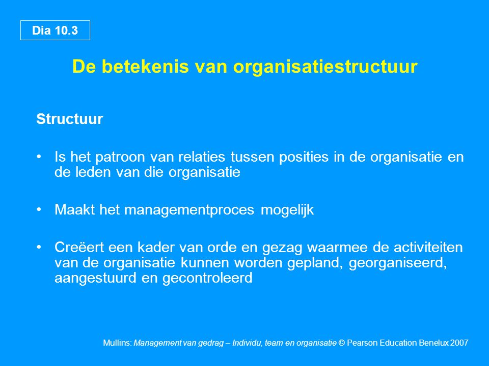 De betekenis van organisatiestructuur