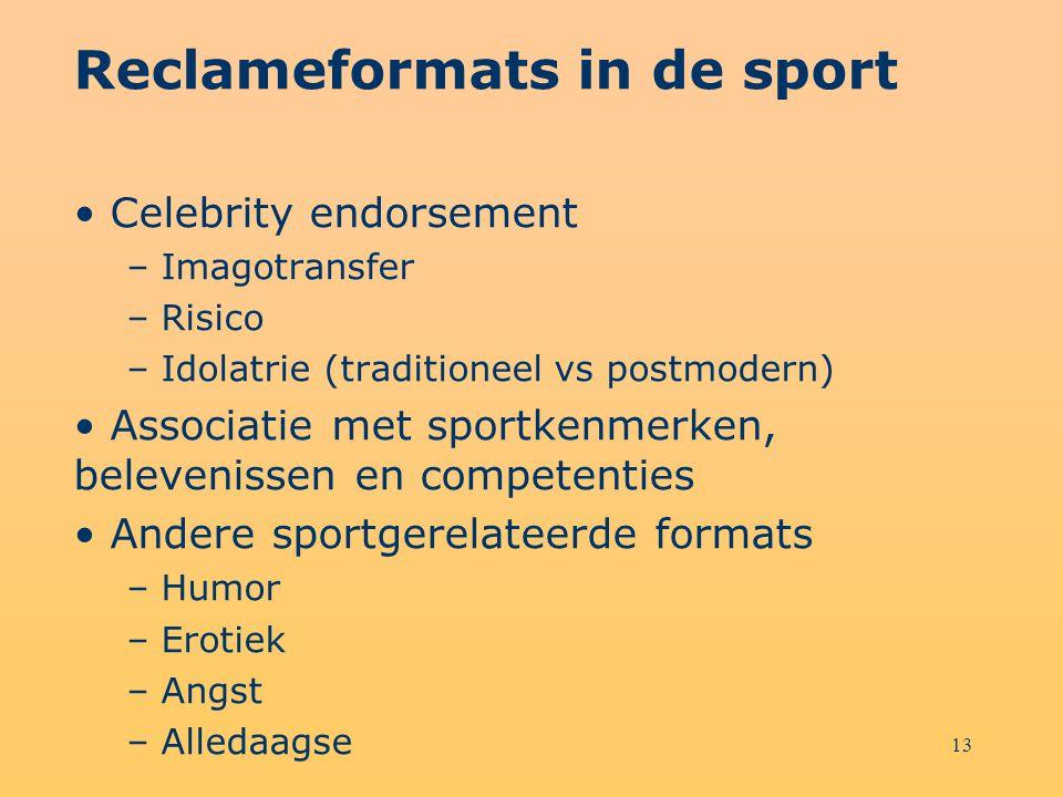 Reclameformats in de sport