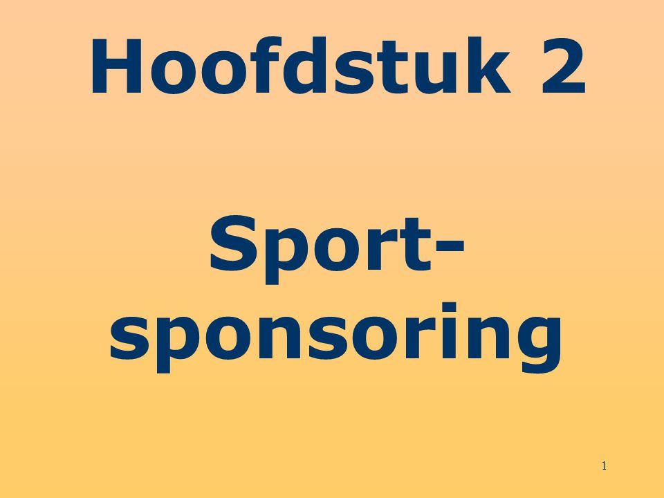 Hoofdstuk 2 Sport- sponsoring