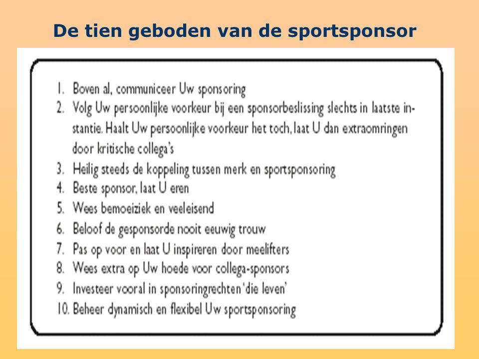 De tien geboden van de sportsponsor