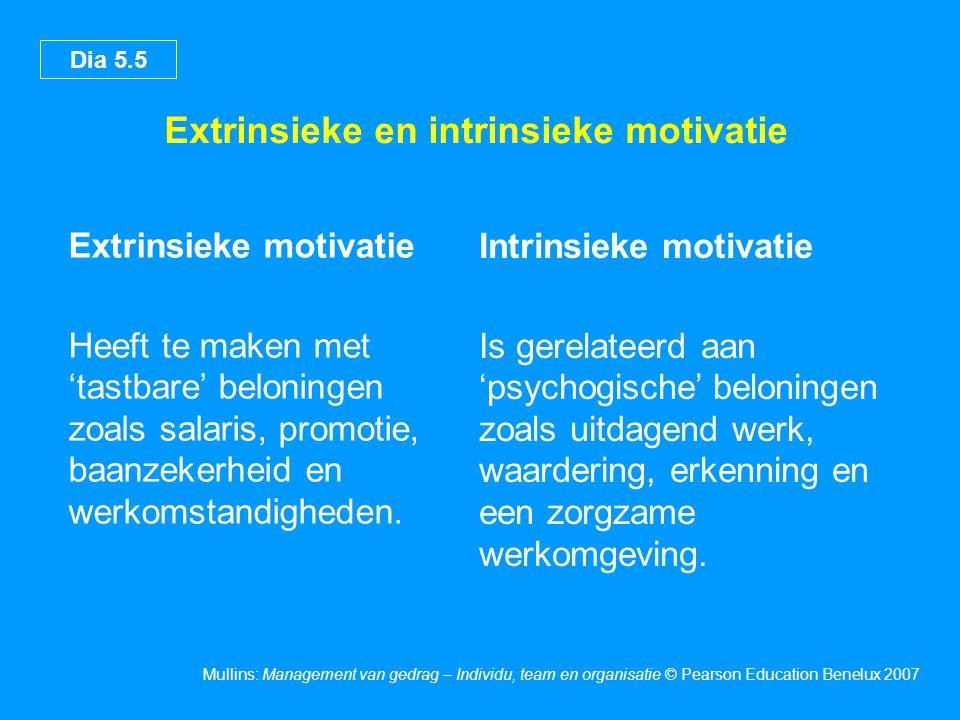 Extrinsieke en intrinsieke motivatie