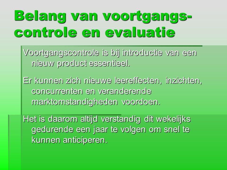 Belang van voortgangs-controle en evaluatie
