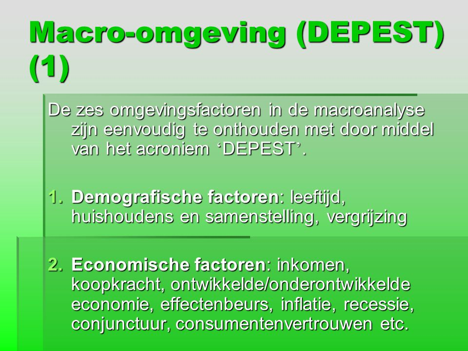 Macro-omgeving (DEPEST) (1)