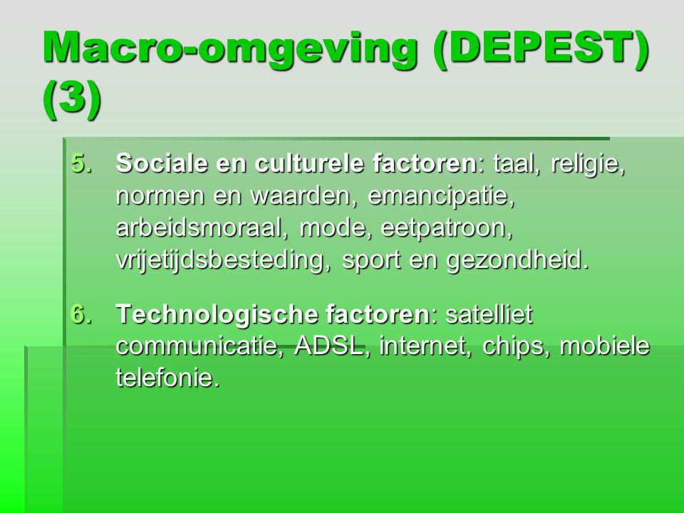 Macro-omgeving (DEPEST) (3)