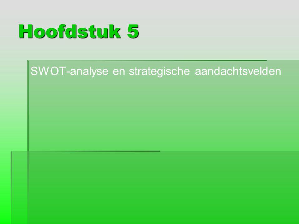 Hoofdstuk 5 SWOT-analyse en strategische aandachtsvelden