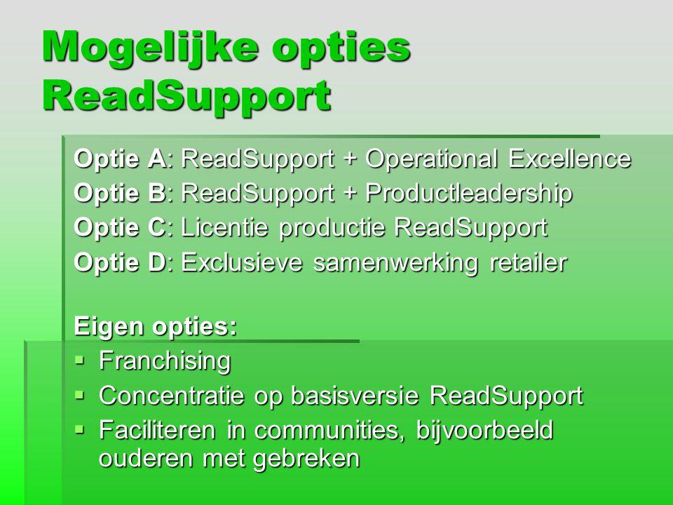 Mogelijke opties ReadSupport