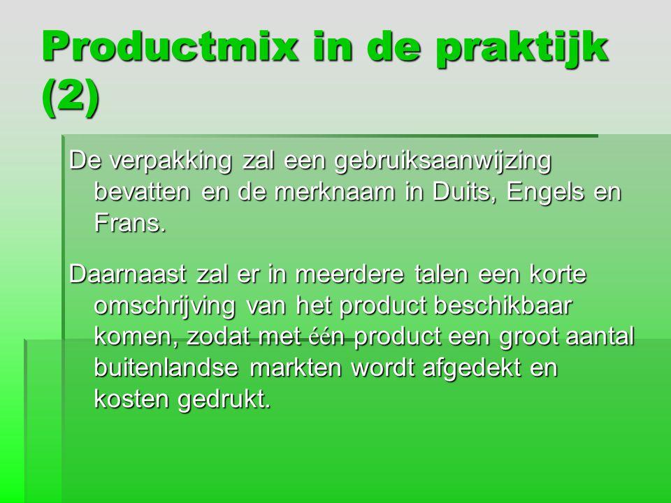 Productmix in de praktijk (2)