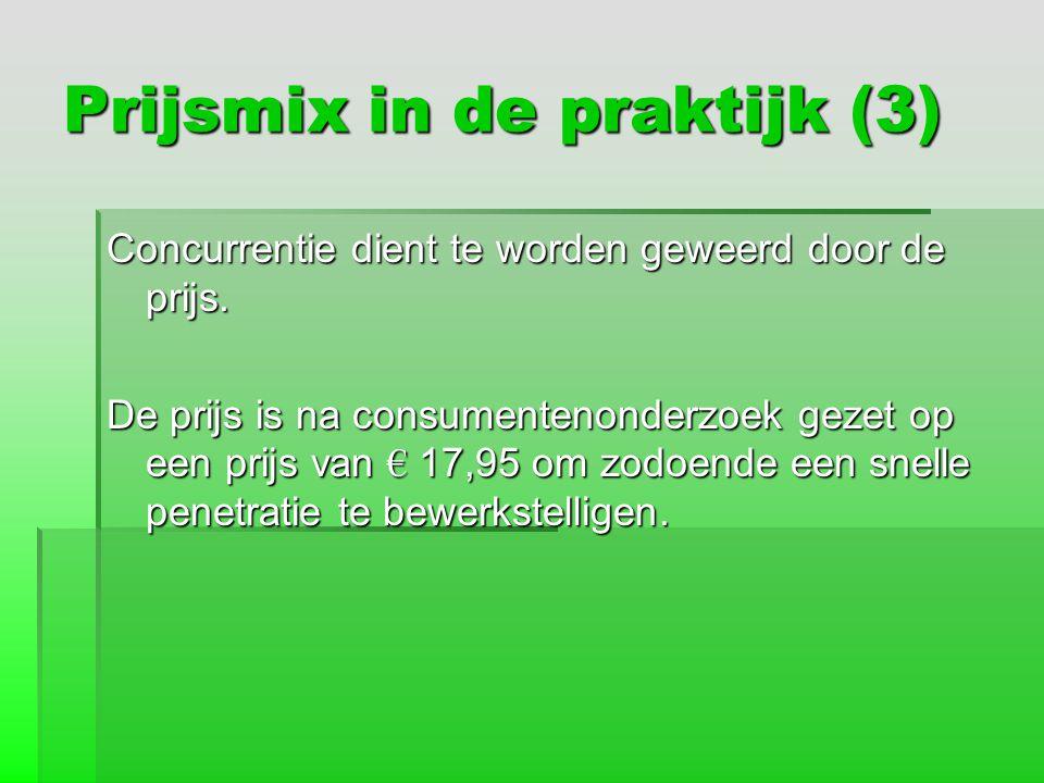 Prijsmix in de praktijk (3)