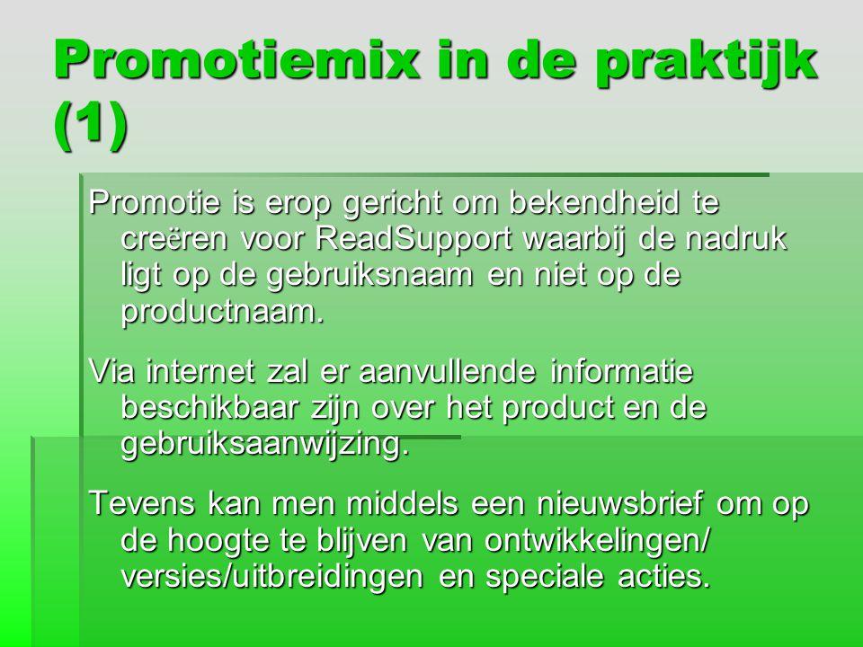 Promotiemix in de praktijk (1)