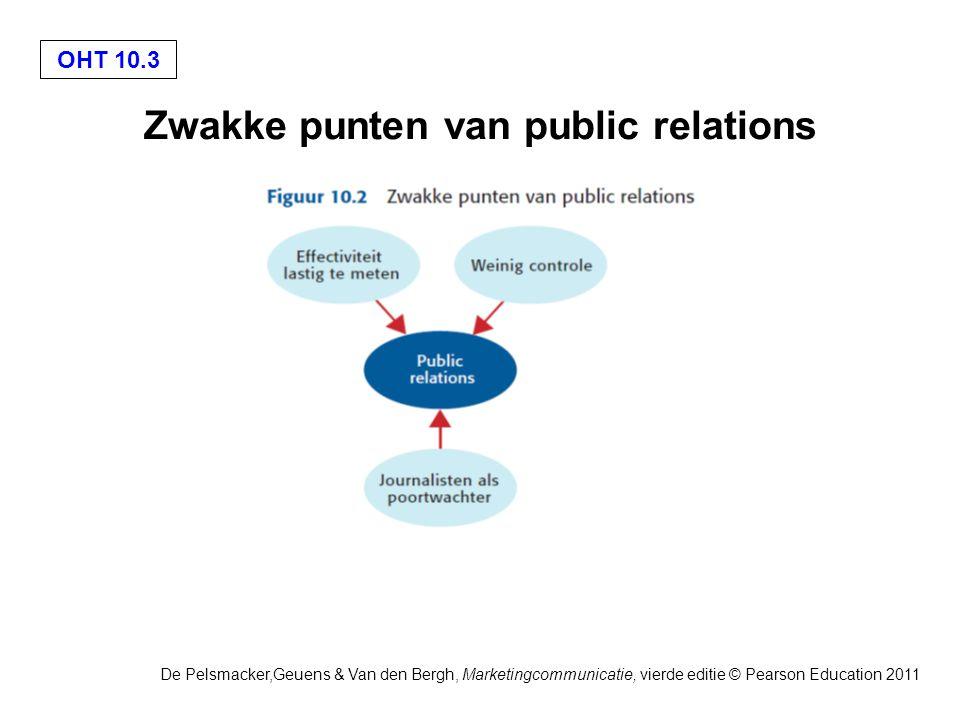 Zwakke punten van public relations