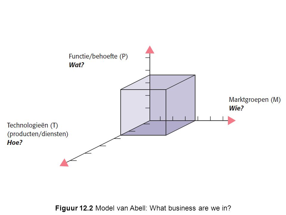Figuur 12.2 Model van Abell: What business are we in