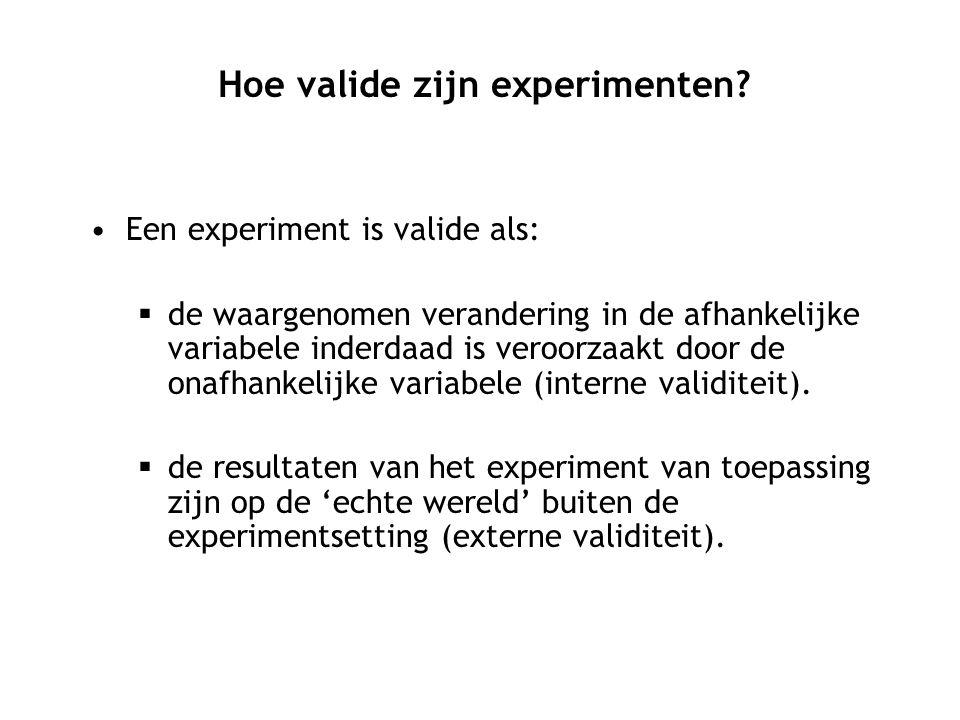 Hoe valide zijn experimenten