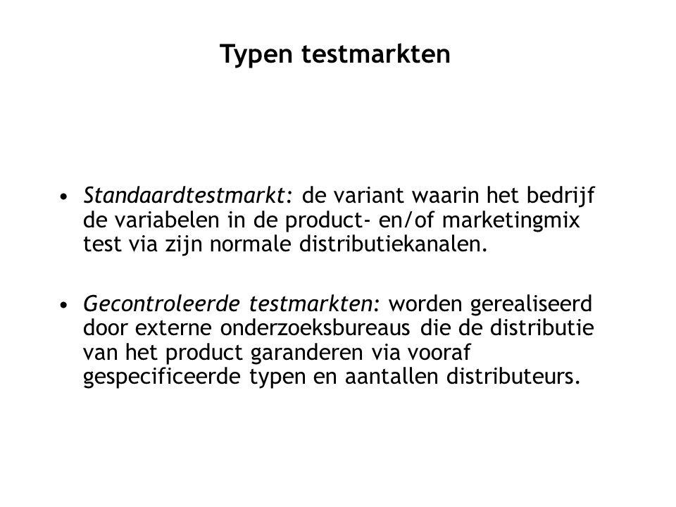 Typen testmarkten