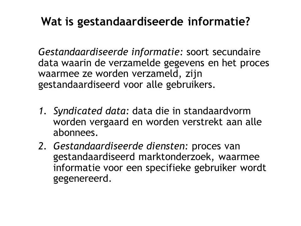 Wat is gestandaardiseerde informatie
