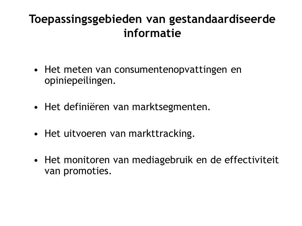 Toepassingsgebieden van gestandaardiseerde informatie