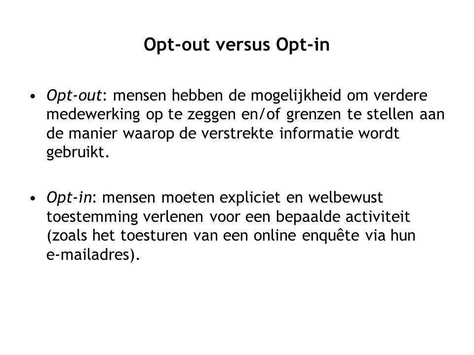 Opt-out versus Opt-in