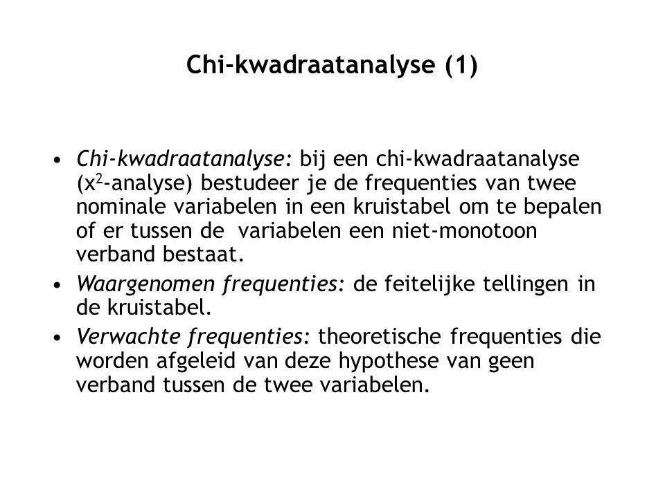 Chi-kwadraatanalyse (1)