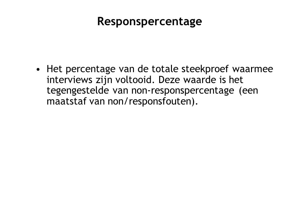 Responspercentage