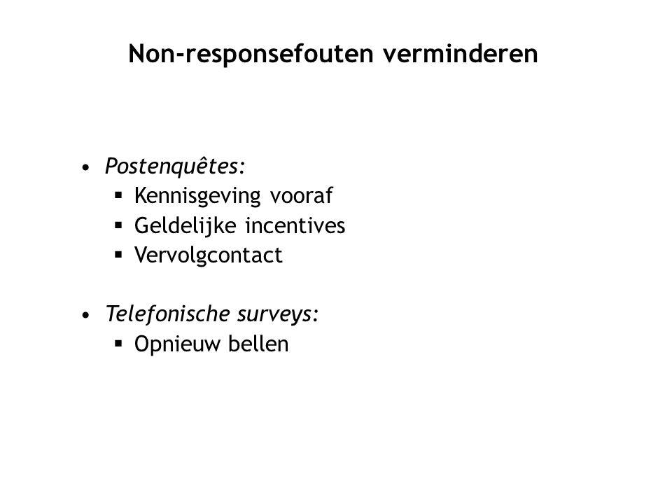 Non-responsefouten verminderen