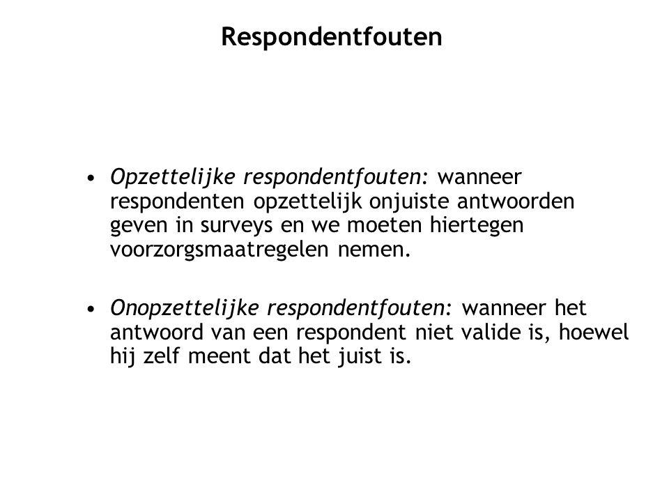 Respondentfouten