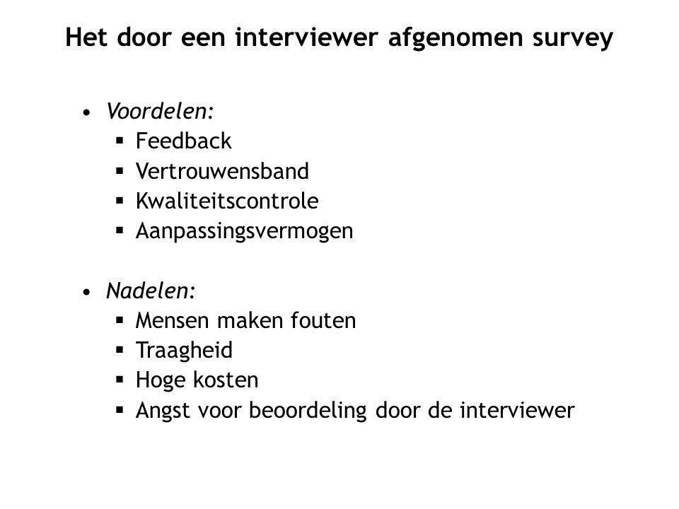 Het door een interviewer afgenomen survey