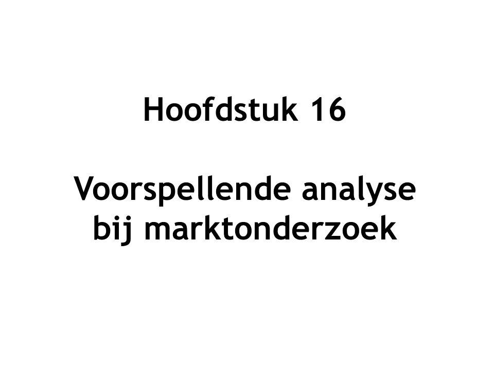 Voorspellende analyse