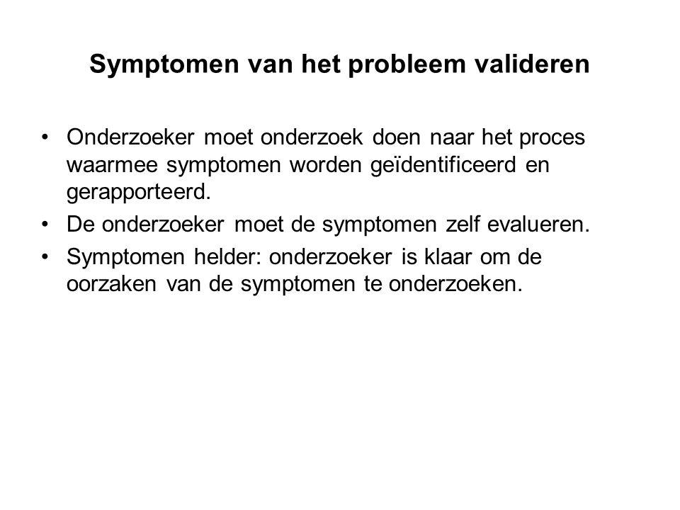 Symptomen van het probleem valideren