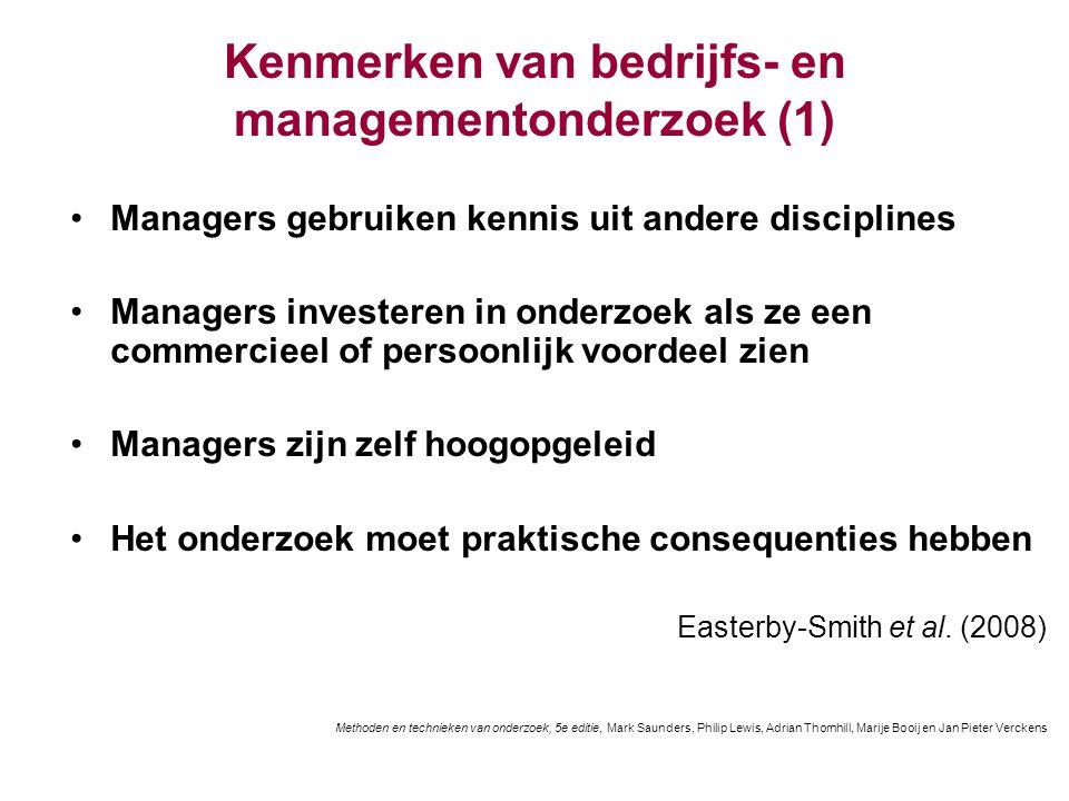 Kenmerken van bedrijfs- en managementonderzoek (1)