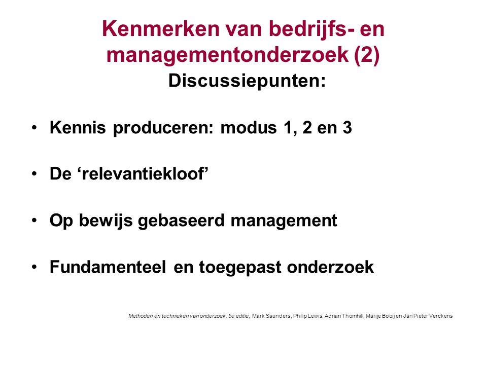 Kenmerken van bedrijfs- en managementonderzoek (2)