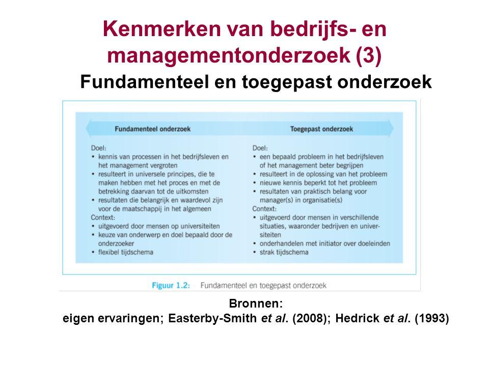 Kenmerken van bedrijfs- en managementonderzoek (3)