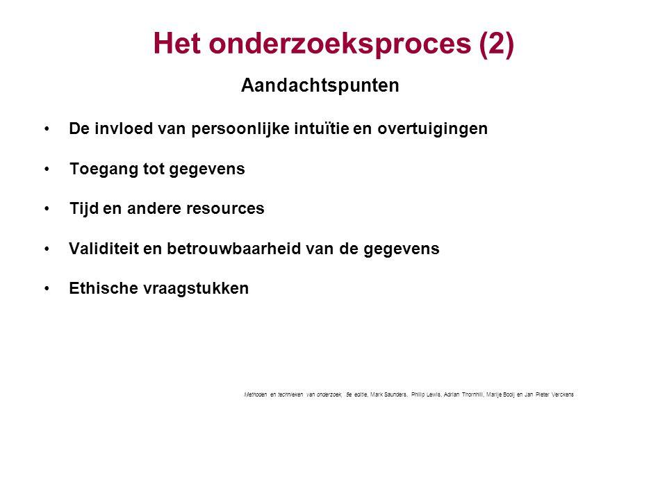 Het onderzoeksproces (2)