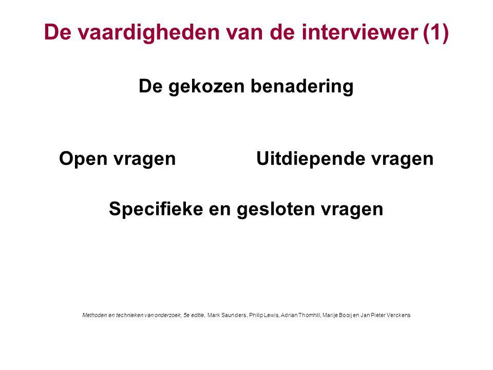 De vaardigheden van de interviewer (1)