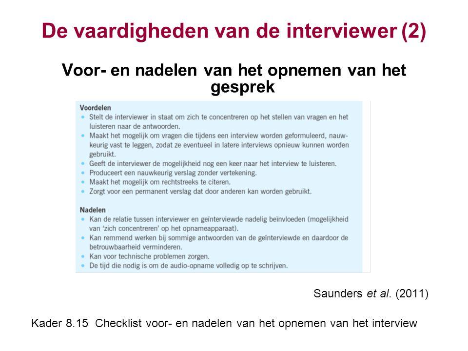 De vaardigheden van de interviewer (2)