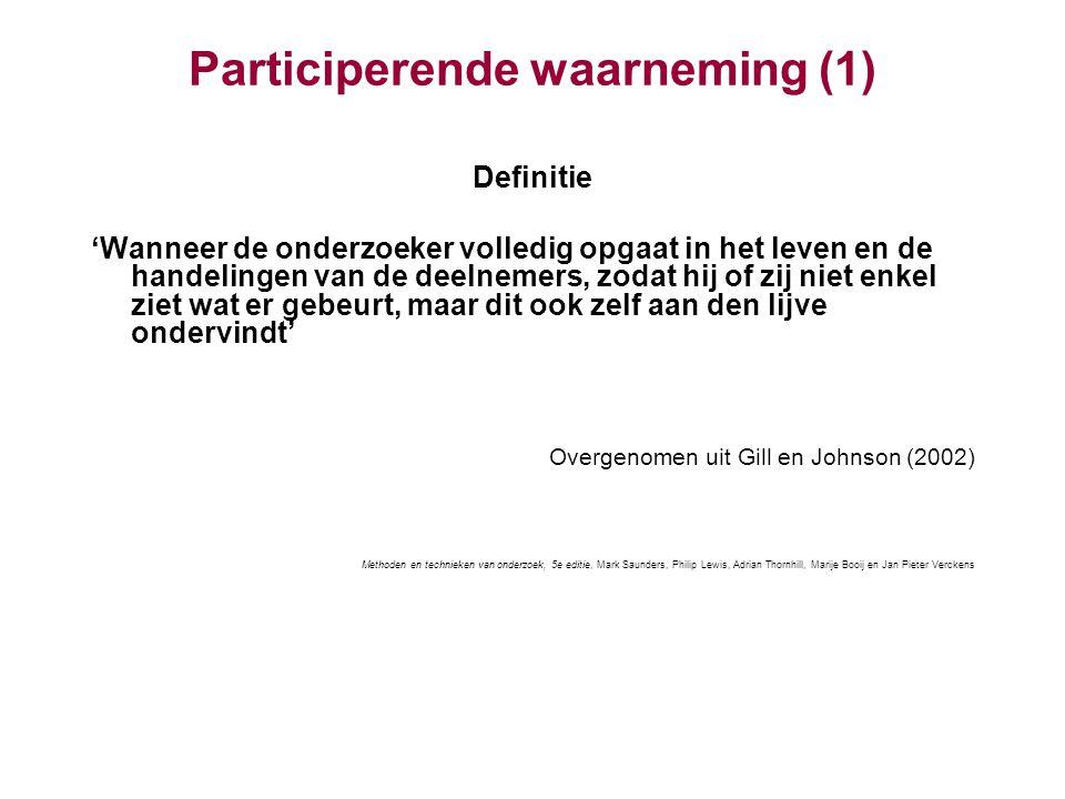Participerende waarneming (1)