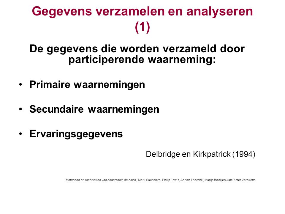 Gegevens verzamelen en analyseren (1)