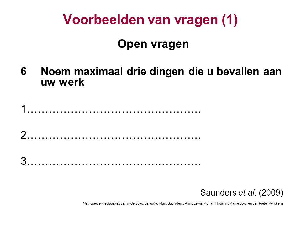 Voorbeelden van vragen (1)