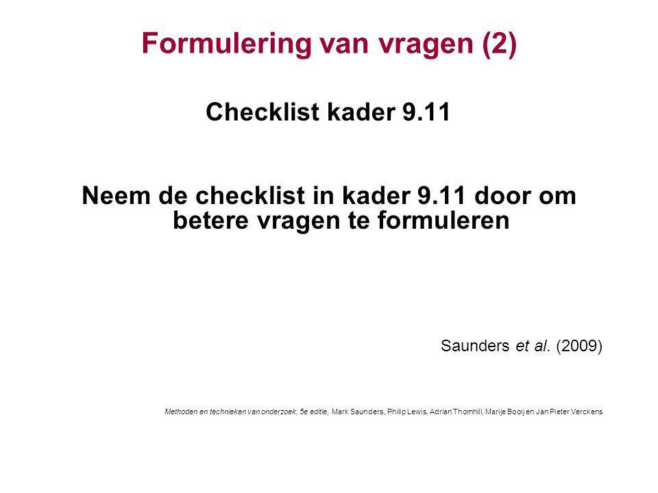 Formulering van vragen (2)
