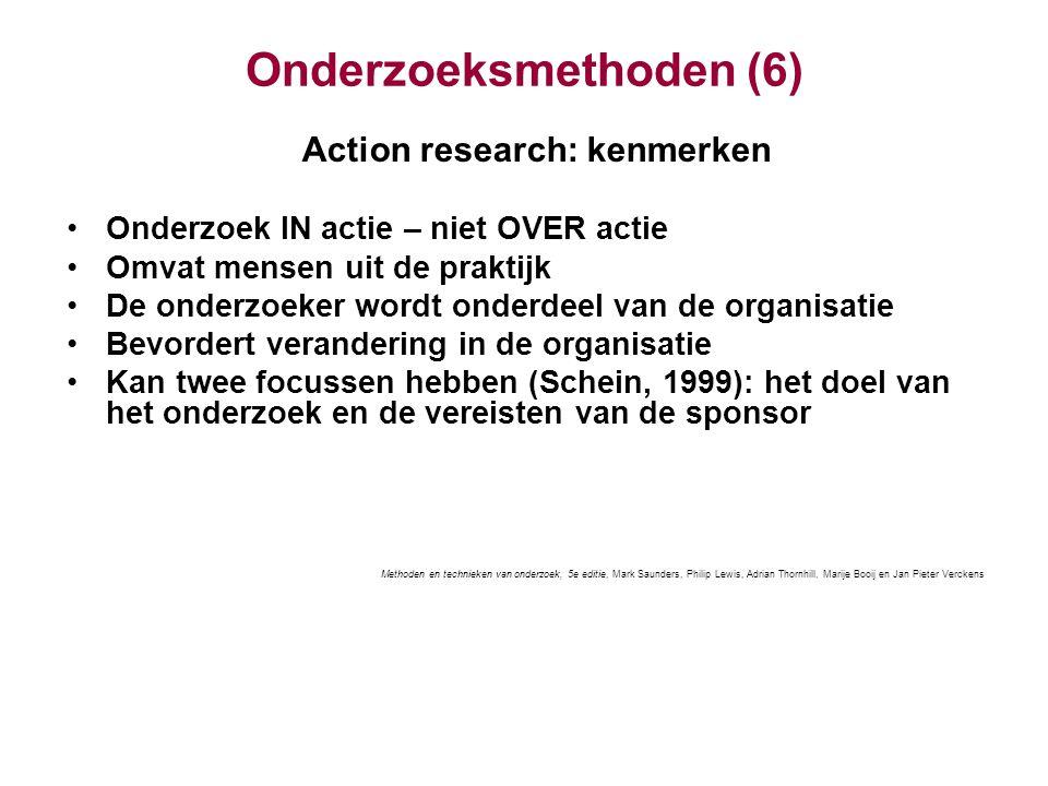 Onderzoeksmethoden (6)