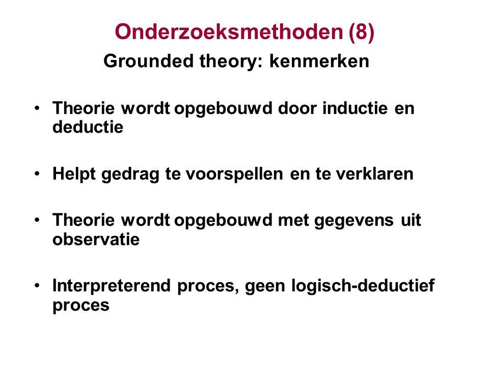 Onderzoeksmethoden (8)