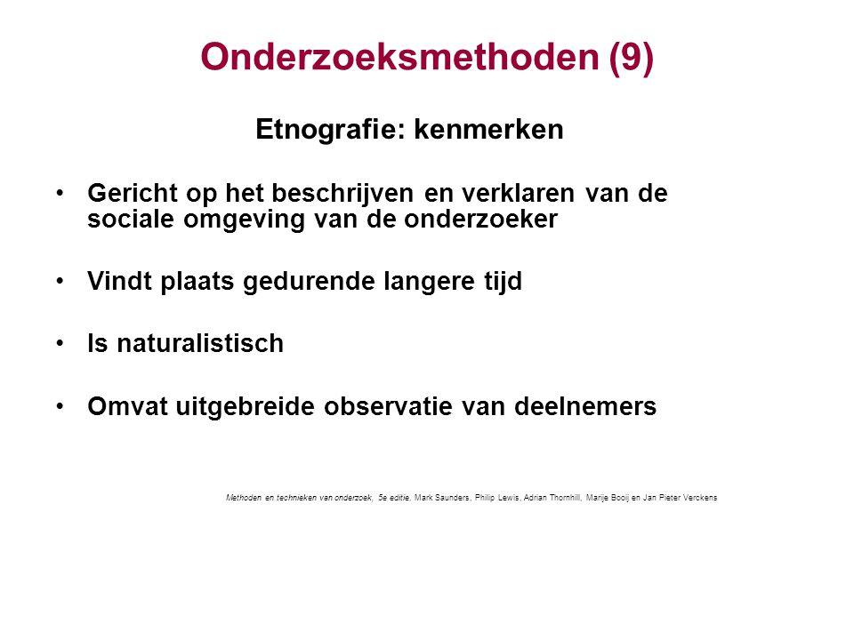 Onderzoeksmethoden (9)