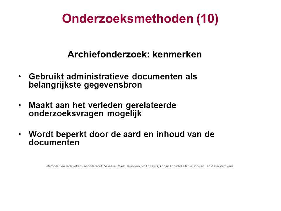 Onderzoeksmethoden (10)
