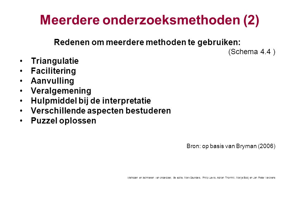 Meerdere onderzoeksmethoden (2)