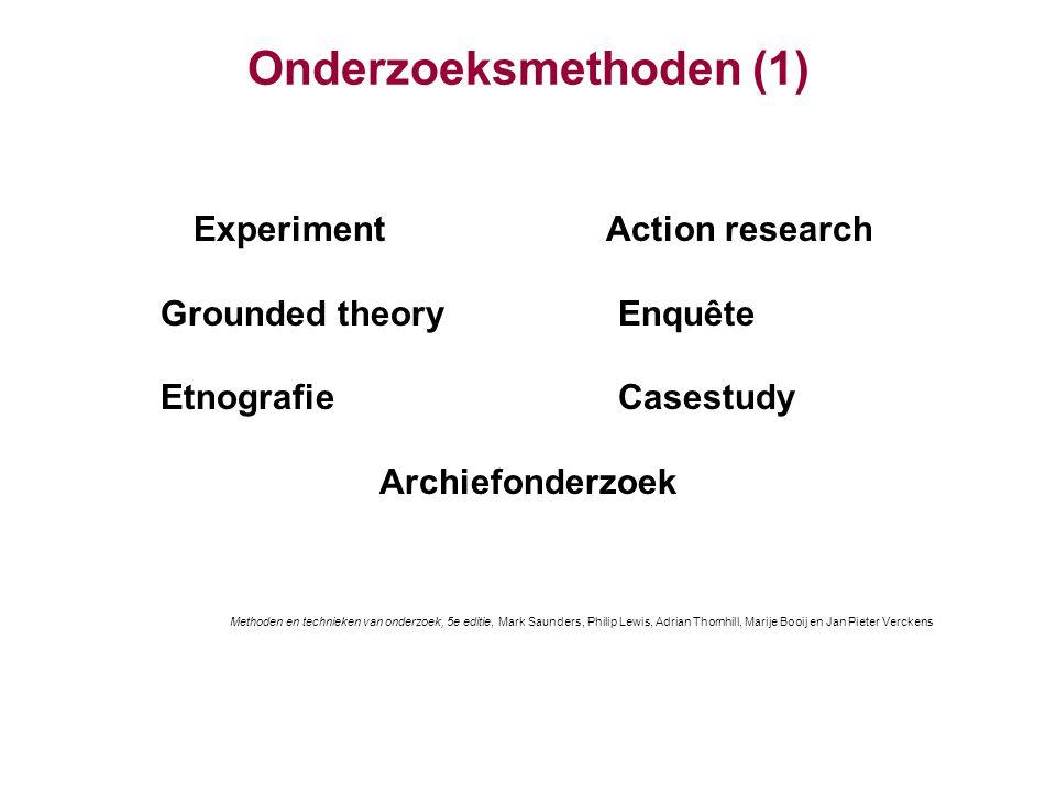 Onderzoeksmethoden (1)