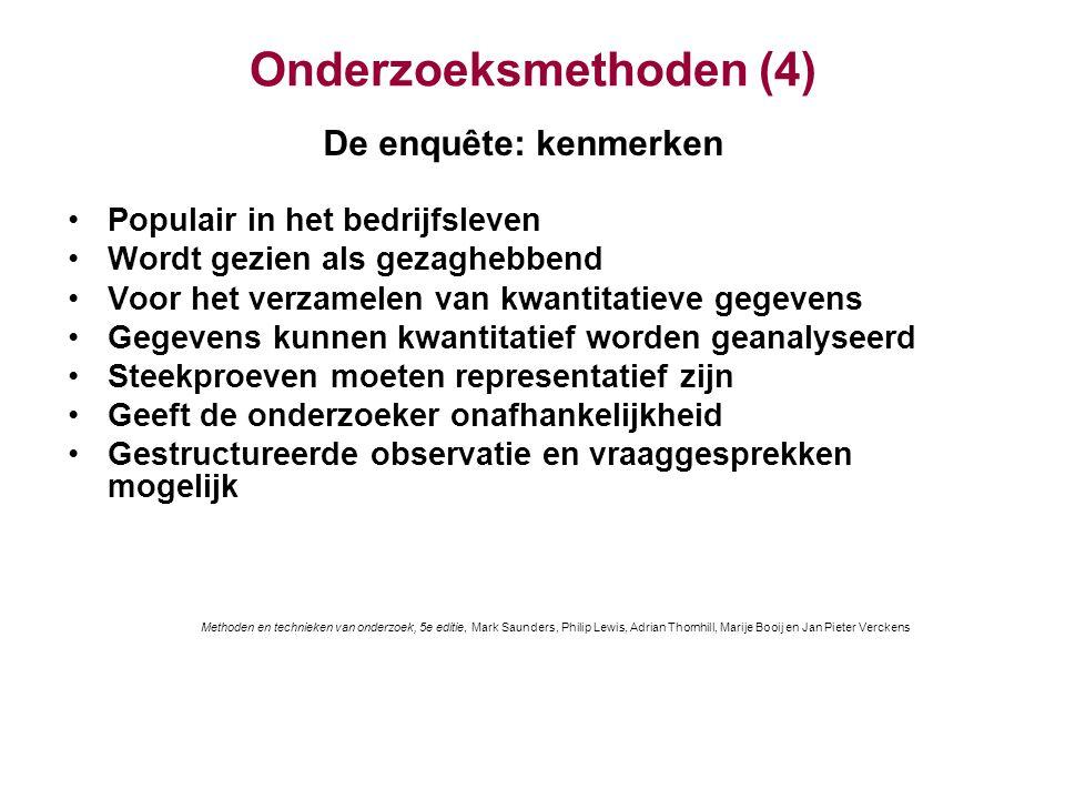 Onderzoeksmethoden (4)