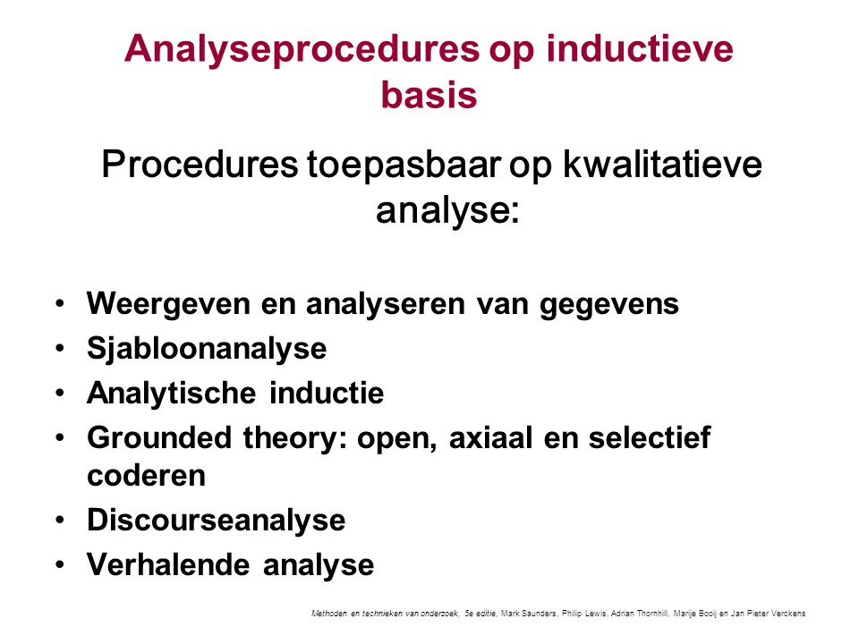 Analyseprocedures op inductieve basis