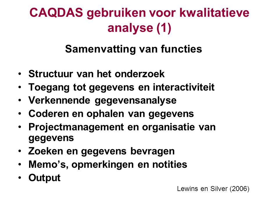 CAQDAS gebruiken voor kwalitatieve analyse (1)