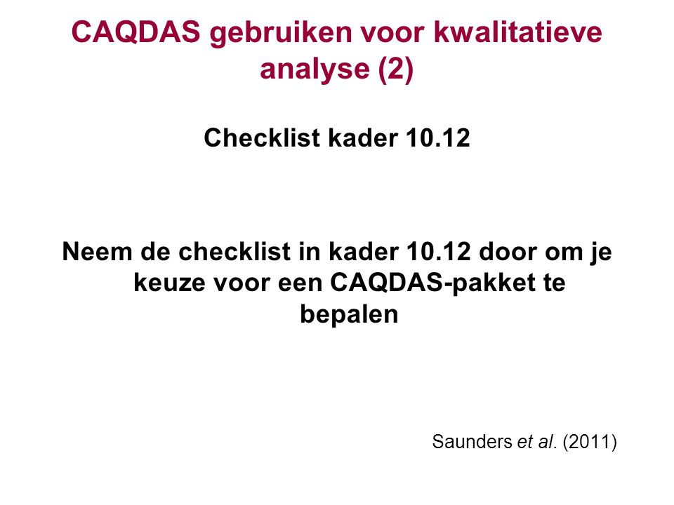 CAQDAS gebruiken voor kwalitatieve analyse (2)