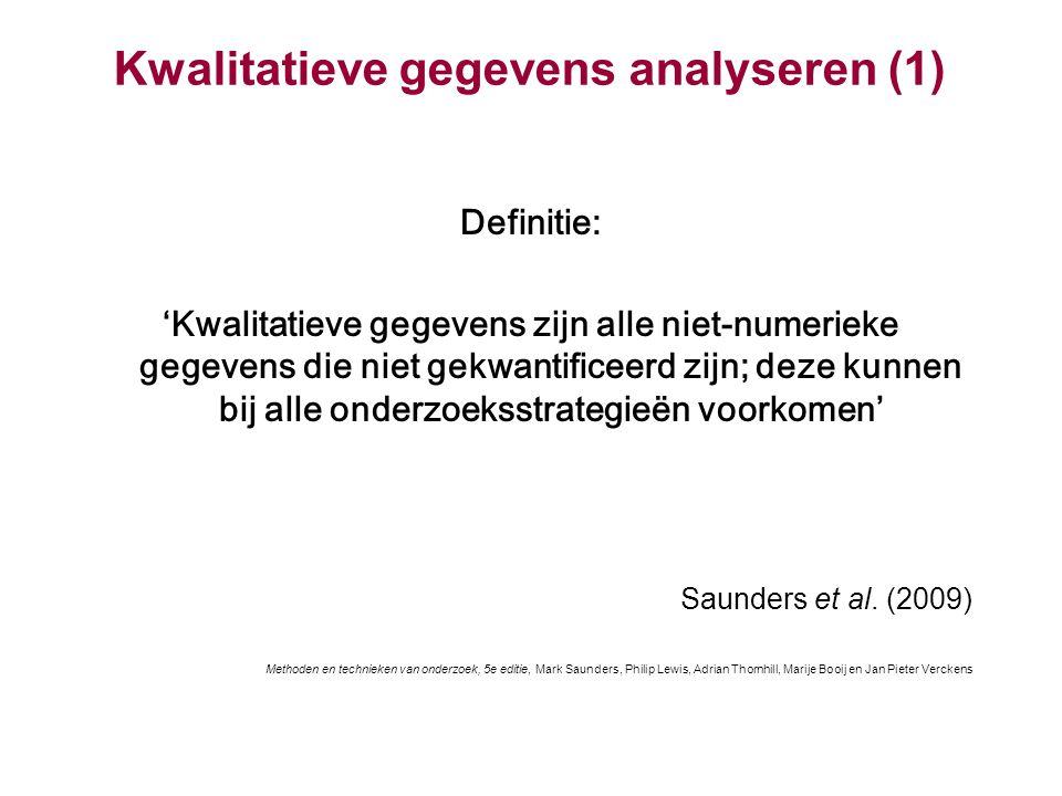 Kwalitatieve gegevens analyseren (1)